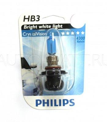Лампа галогенная HB3 9005 - PHILIPS Crystal Vision 12V 65W 4300K