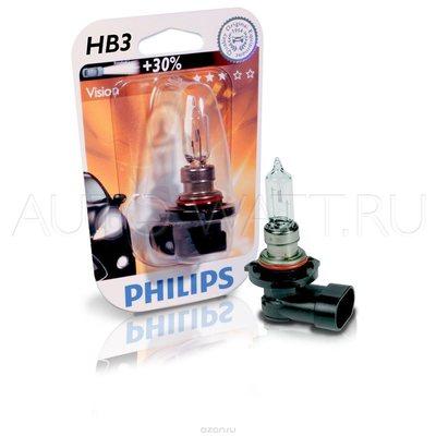 Лампа галогенная HB3 9005 - PHILIPS Vision +30% 12V 65W 3000K