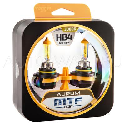 Лампа галогенная HB4 9006 - MTF Aurum 12V 55W 3000K