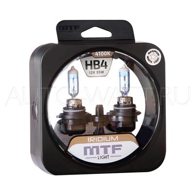 Лампа галогенная HB4 9006 - MTF Iridium 12V 55W 4100K