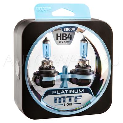 Лампа галогенная HB4 9006 - MTF Platinum 12V 55W 3800K