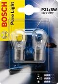 Лампа галогенная P21/5W 1157 - Bosch PureLight 12V 21/5W