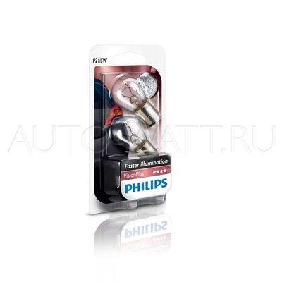 Лампа галогенная P21/5W 1157 - PHILIPS Vision Plus +50% 12V 21/5W 3000K Комплект