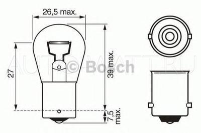 Лампа галогенная P21W 1156 - Bosch 12V 18W