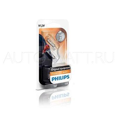 Лампа галогенная T5 - PHILIPS Vision 12V 1,2W 3000K Комплект