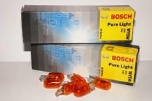 Лампа галогенная W5W T10 - Bosch Pure Light 12V 2W Жёлтая