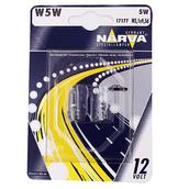 Лампа галогенная W5W T10 - NARVA 12V 5W