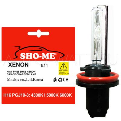 Лампа ксенон H16-PGJ19-3 Sho-Me 4300K 5000K 6000K