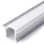 Набор алюминиевого профиля для светодиодной ленты 25x15mm с экраном