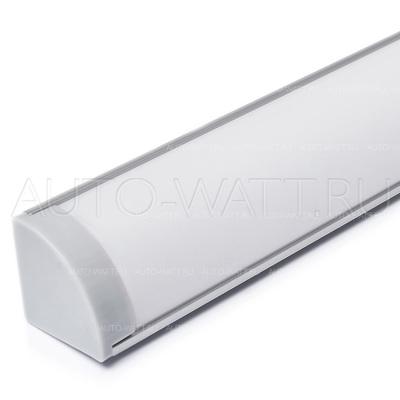 Набор алюминиевого углового профиля для светодиодной ленты 16x16mm с экраном