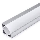 Набор алюминиевого углового профиля для светодиодной ленты 18x18mm с экраном