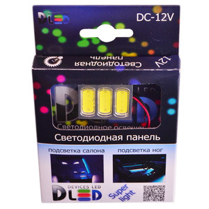 Панель в салонный светильник 3 Led HP 4.5W