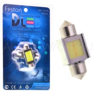 Светодиодная лампа C5W 31 мм - 1 COB 2Вт Белая