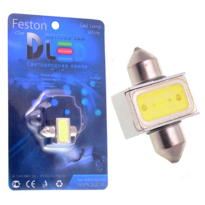 Светодиодная лампа C5W 31 мм - 1 High-Power 1.5Вт Белая