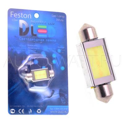 Светодиодная лампа C5W 41 мм - 1 COB 3Вт Белая