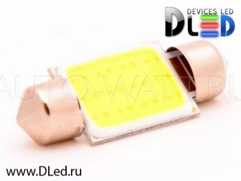 Светодиодная лампа C5W 36 мм - 1 COB Lite 3Вт Белая