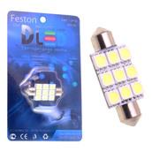 Светодиодная лампа C5W 41 мм - 9 SMD5050 2.6Вт Белая