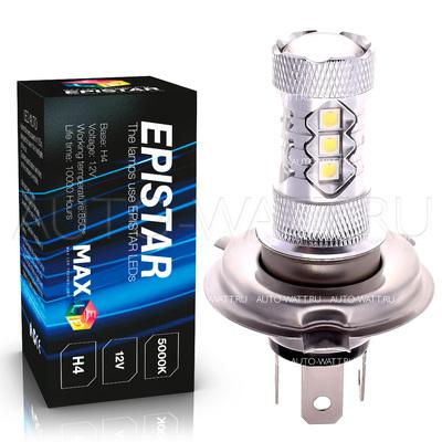 Светодиодная лампа H4 - 16 Epistar Линза 80Вт