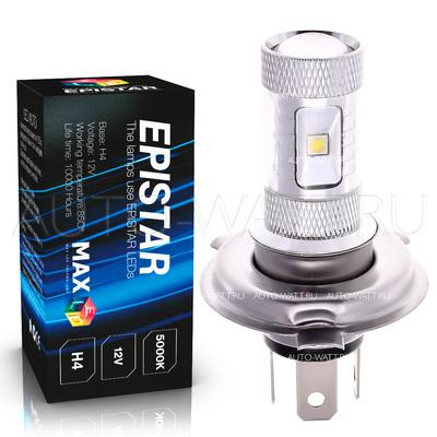 Светодиодная лампа H4 - 6 Epistar Линза 30Вт