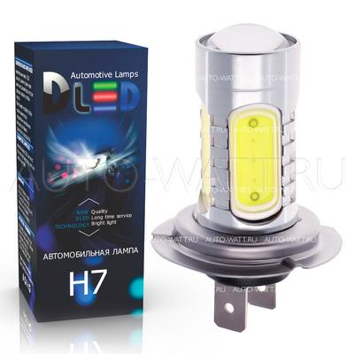 Светодиодная лампа H7 - 4 High-Power + Cree 9.5Вт