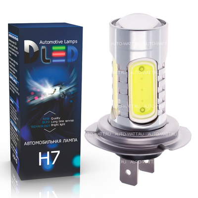 Светодиодная лампа H7 - 5 High-Power+Линза 7.5Вт