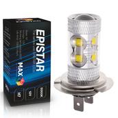 Светодиодная лампа H7 - 10 Epistar Линза 50Вт