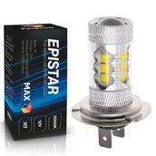 Светодиодная лампа H7 - 16 Epistar Линза 80Вт