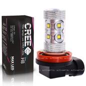 Светодиодная лампа H8 - 10 CREE Линза 50Вт