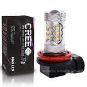 Светодиодная лампа H8 - 16 CREE Линза 80Вт