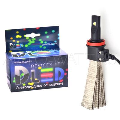 Светодиодная лампа H9 - 2 CREE Braid 20Вт DLED