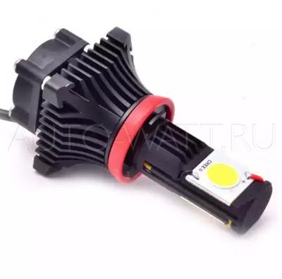 Светодиодная лампа P13W - 2 CREE BLACK 25W DLED