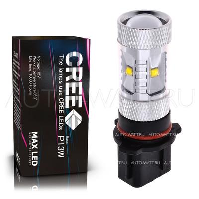 Светодиодная лампа P13W - 6 CREE Линза 30Вт