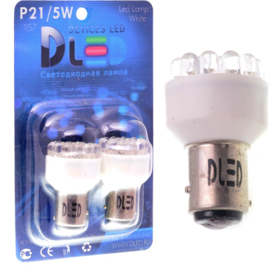 Светодиодная лампа P21/5W 1157 - 19 DIP 0.9Вт Жёлтая
