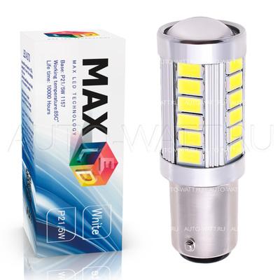 Светодиодная лампа P21/5W 1157 - Max-Road 33Led 13Вт Красная