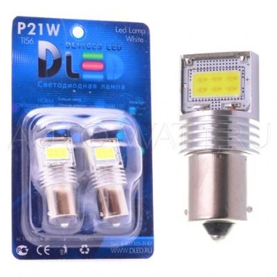 Светодиодная лампа P21W 1156 - 3 High-Power 9Вт Белая