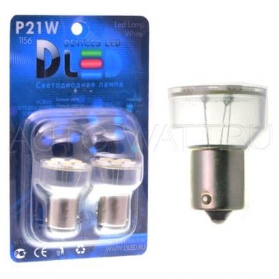 Светодиодная лампа P21W 1156 - 6 SMD5050 1.44Вт Белая