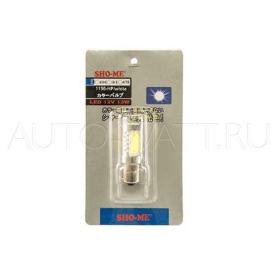 Светодиодная лампа P21W 1156 - SHO-ME 1156-HP-6W Белая