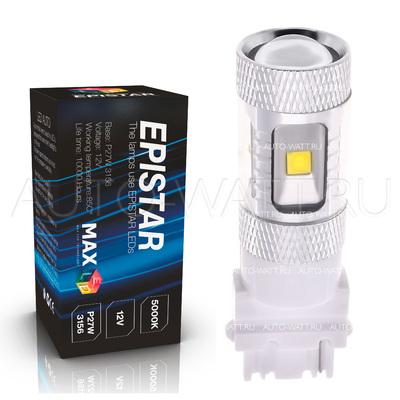Светодиодная лампа P27/7W 3157 - 6 Epistar Линза 30Вт