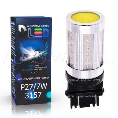 Светодиодная лампа P27/7W 3157 - 7 COB 20Вт Белый-Жёлтый