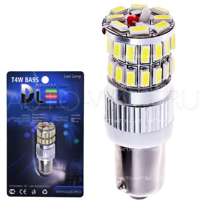 Светодиодная лампа T4W BA9S - 36 SMD3014 6Вт Белая