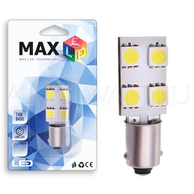 Светодиодная лампа T4W BA9S - 4 SMD5050 0.96Вт Белая