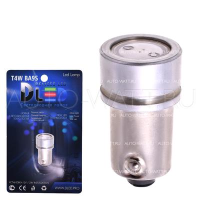 Светодиодная лампа T4W BA9S - 1 High-Power 1Вт Жёлтая