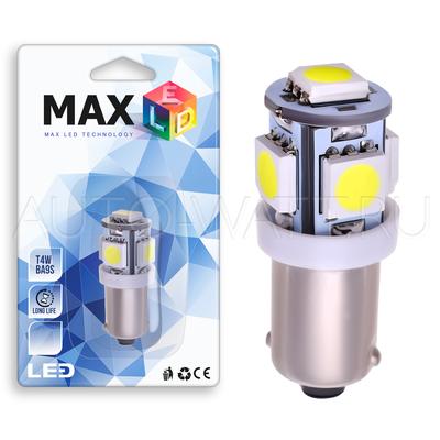 Светодиодная лампа T4W BA9S - 5 SMD5050 1.2Вт Белая