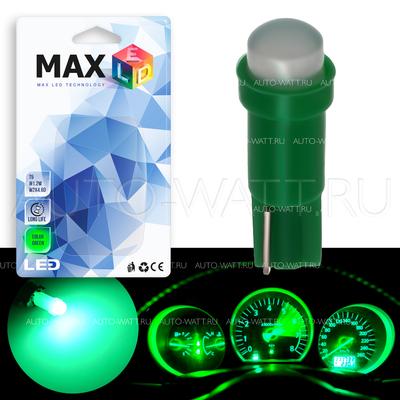 Светодиодная лампа T5 – 1 COB 360 1Вт Зелёная