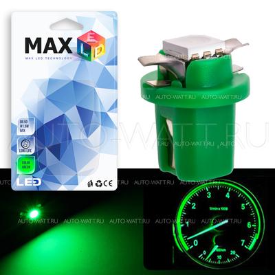 Светодиодная лампа T5 – B8.3D 1 SMD 5050 0.24Вт Зелёная