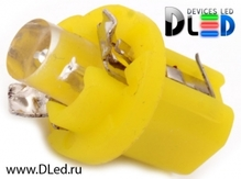 Светодиодная лампа T5 – B8.5D 1 Dip 0.2Вт Жёлтая