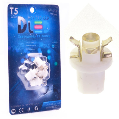 Светодиодная лампа T5 – B8.5D 1 Dip 0.2Вт Белая