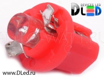 Светодиодная лампа T5 – B8.5D 1 Dip 0.2Вт Красная