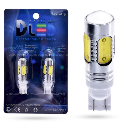 Светодиодная лампа W16W T15 – 5 HP Линза 7.5Вт Белая
