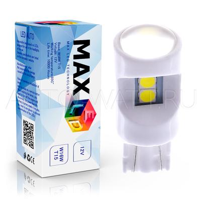 Светодиодная лампа W16W T15 – Max-Ceramic 3030 6Led 6Вт Белая